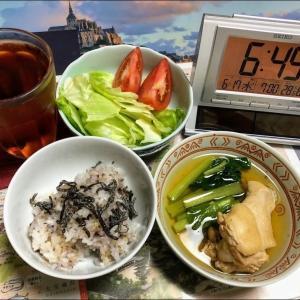 200617焼売と豚肉と小松菜炒め