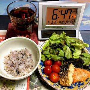 200908中トロ寿司と野菜炒め