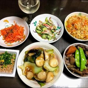 210404田舎料理で晩酌と実家昼飯