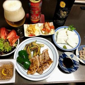 210615豚肉ソテーと焼野菜