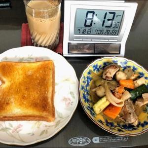 210718実家昼飯と久し振りのポテサラ作成