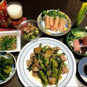 210915空芯菜と豚肉搾菜の炒め物