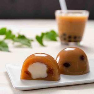 「タピオカミルクティー水まんじゅう」食べてみた。「柿安口福堂」