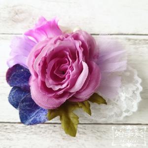 季節を問わす使える花飾りです♪
