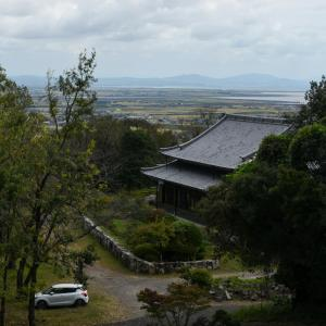 肥前仏舎利塔からみた佐賀空港・大牟田