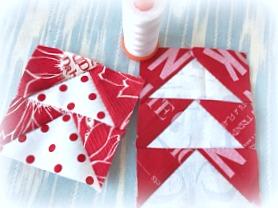 赤×白キルト☆クリスマスリースキルト