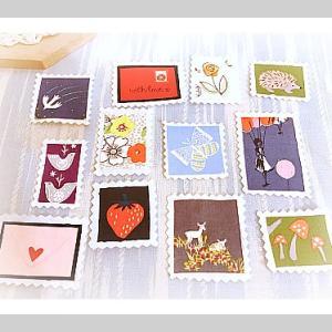 ハギレで作る可愛い切手☆