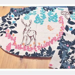 昔の布でバッグ作り☆ザクザクステッチ小物