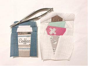 コーヒーカップのパターン☆糸いろいろ