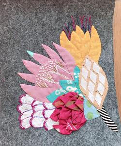 アップリケと刺繍☆夏のパターン