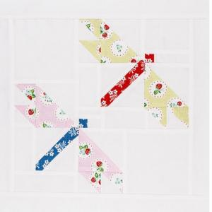 四角いヨーヨーの巾着 完成☆トンボのパターン