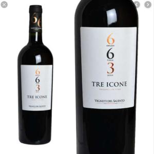 信じられない程・美味しいワインがあります!トレ・イコーネ663!アプルッツオ・プーリア・シチリア!!