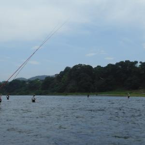 今日は早朝から釣れていた!理由は水温が高いからで!人出は相変わらず凄く多い!!
