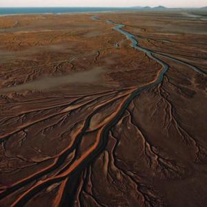 まるで葉脈!米国からメキシコへ流れる・コロラド川の河口域付近に堆積したデルタ!