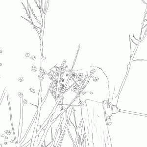 今日のチマチマ(描かせていただいてます)、ちびモブ会社員、新親父猫とうさぎアザラシ