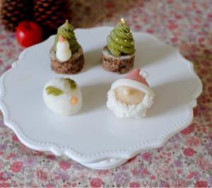 和菓子もクリスマス