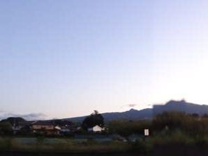 朝散歩~日の出を見て。昼、ぐるっとサイクリング。