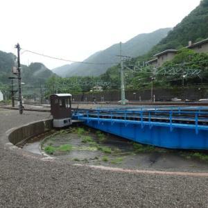 SL転車台・高崎駅から水上駅へ、転車台で向きを変えて・・・