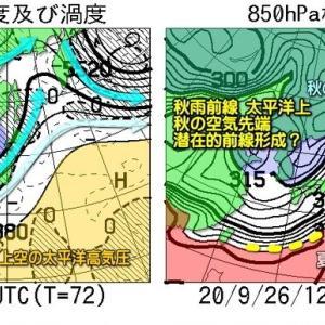 向こう一週間の空模様と気温傾向・・・秋本番へ!? 秋山登山日よりはいつでしょうか? 28日月曜日が最高ですね。