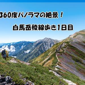 【北アルプス】絶景が止まらない!念願の白馬岳縦走登山1日目