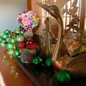 お正月準備…クリスマスの設えは今日まで