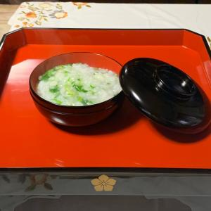 京都…七草のお粥さんもお正月のお膳で