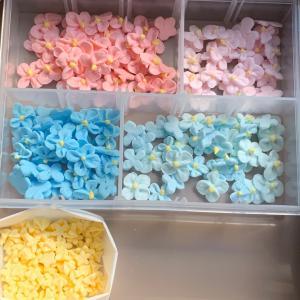 アイシングクッキーお花絞り…6月は紫陽花