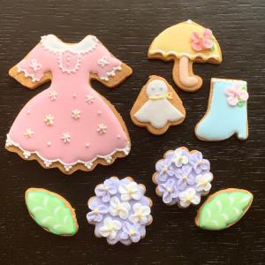 アイシングクッキー販売…紫の紫陽花