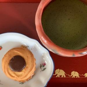 京都…朝抹茶のお菓子は村上開進堂さんのクッキー