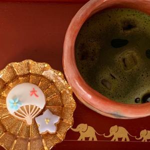 朝抹茶のお供に…オリジナルアイシングクッキー