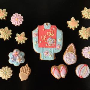 来月のアイシングクッキー自宅販売に向けて…七五三のデザイン