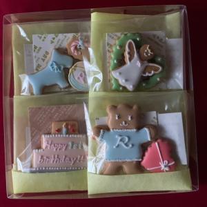 アイシングクッキーオーダー…一歳のお誕生日プレゼント