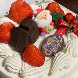 手作り感満載…パン屋さんのクリスマスケーキ