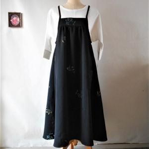 またまた黒のジャンパースカート
