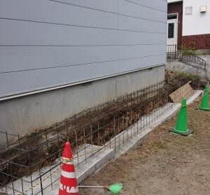 RC擁壁(コンクリート塀)施工