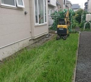 人工芝工事を施工しました。