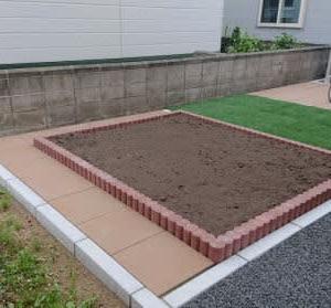 花壇・ST450平板・人工芝工事
