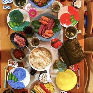 北欧×和の器で誕生日パーティーの食卓