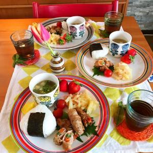北欧食器で和ンプレート晩ごはん と 隠れ脱水?!