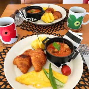 ホテルの朝食みたいな ワンプレート朝ごはん