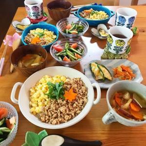 珍しいお野菜で秋の食卓 と お月見団子