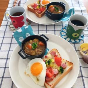 食べにくい…でもおいしい♪休日朝ごはん