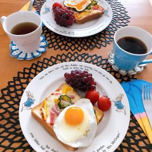 日曜日の簡単朝ごはん と 今日の夜空☆彡