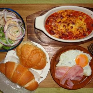 パンもありじゃね #084 夏野菜チリコン朝ごはん