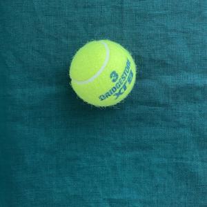 美筋ボディーはテニスボールでほぐす