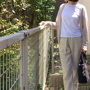 エシカルリネン☆ベルテッドパンツで涼しい夏に