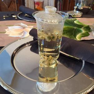 花茶のテーブルコーディネート