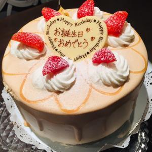 バースデーケーキはミルクティーシフォンケーキ