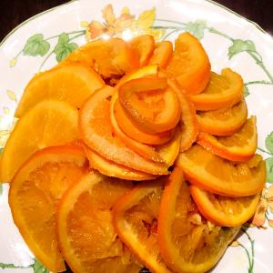 スパークリングワインシロップ漬けのオレンジケーキ