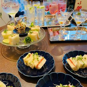 おうちHigh tea party おうちカクテル時間